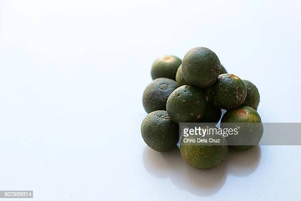 Calamondin or Calamansi on white background