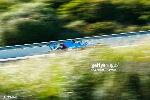 Calan Williams of Australia and Jenzer Motorsport drives at Circuito de Jerez on May 12, 2021 in Jerez de la Frontera, Spain.