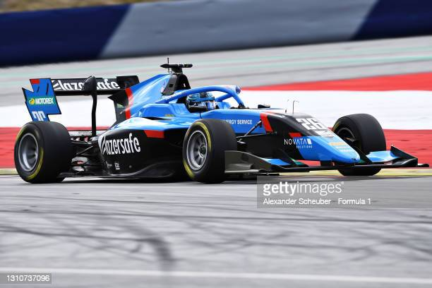 Calan Williams of Australia and Jenzer Motorsport drives during Day Two of Formula 3 Testing at Red Bull Ring on April 04, 2021 in Spielberg, Austria.