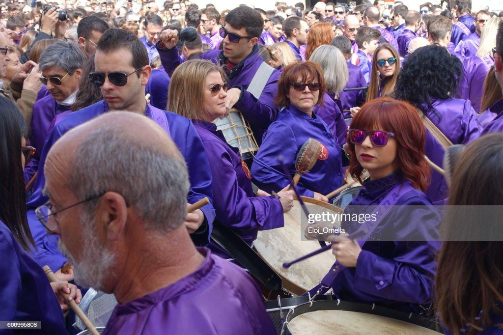 Calanda aragon ruta del tambor procession semana santa Pâques batterie Espagne : Photo