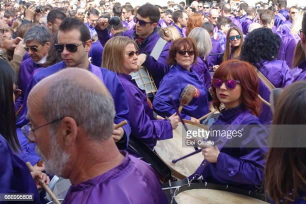 calanda aragon ruta del tambor procession semana santa pâques batterie espagne - saint eloi photos et images de collection