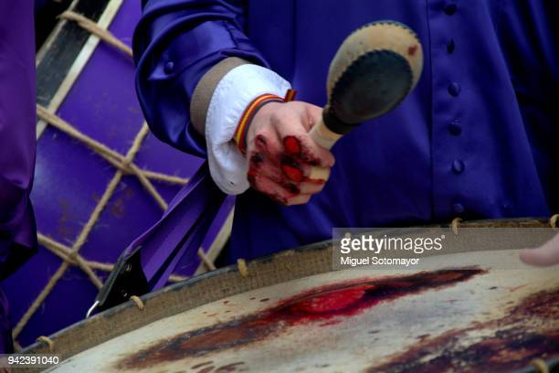 calanda drums - catholic easter stock pictures, royalty-free photos & images