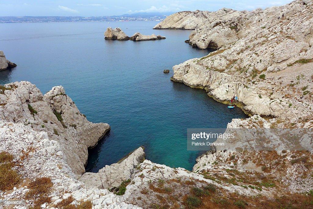 Calanque de Lindes, Frioul, Marseille : Stock Photo