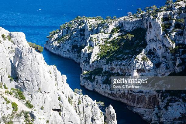 Calanque d'En Vau from clifftop.