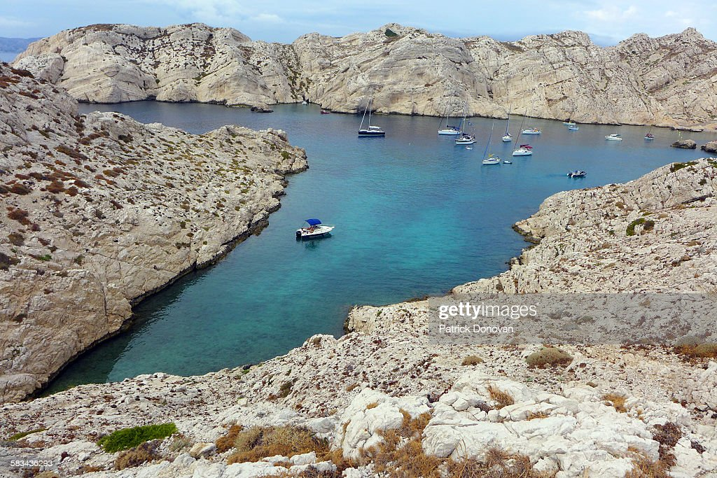 Calanque, Frioul Archipelago, Marseille, France : Stock Photo
