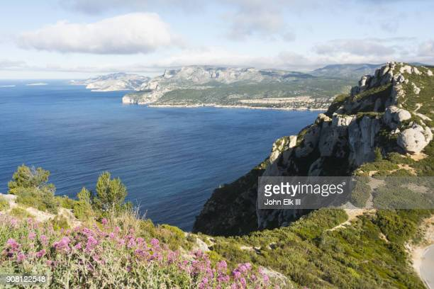 calanques national park landscape - cassis stock pictures, royalty-free photos & images
