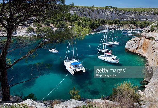 Calanques proximité de Cassis dans la Riviera française