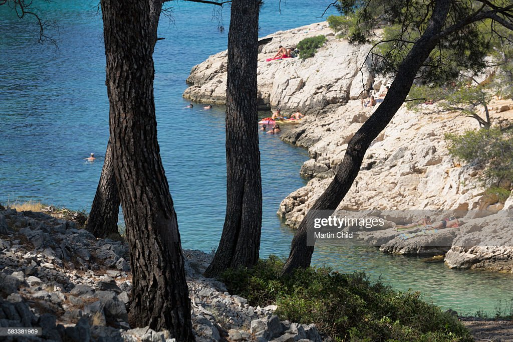 Calanques near Cassis : Stock Photo