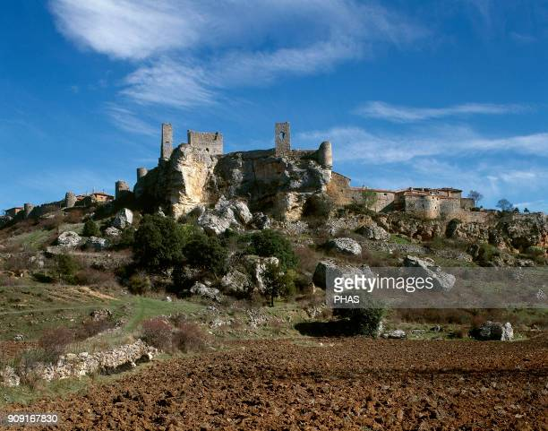 Calatañazor province of Soria Castile and Leon Spain Calatañazor Castle built in the 14th century Ruins It belonged to Maria de Molina Queen of...