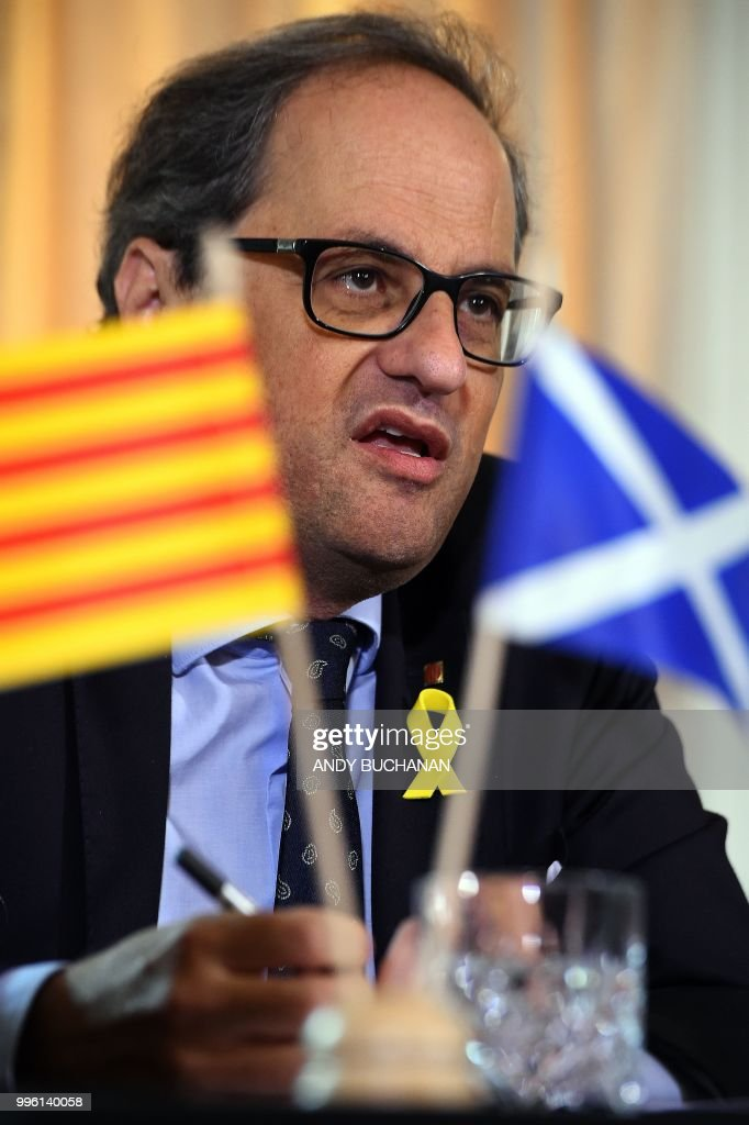 GBR: The Scottish First Minister Meets The President Of Catalonia