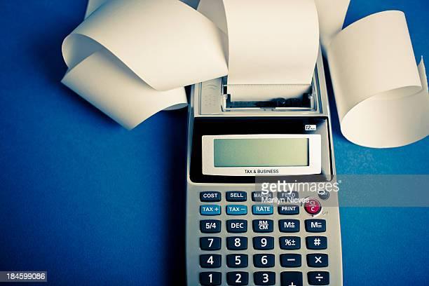 berechnung kosten - addierrolle stock-fotos und bilder