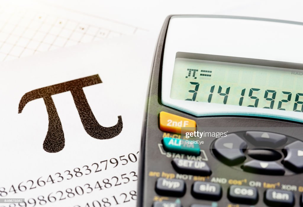 Calculating The Infinite Number Represented By The Symbol Pi Stock