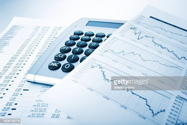 calculator and charts - interest rate stock pictures, royalty-free photos & images