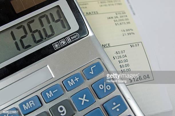 Calculator and energy bill