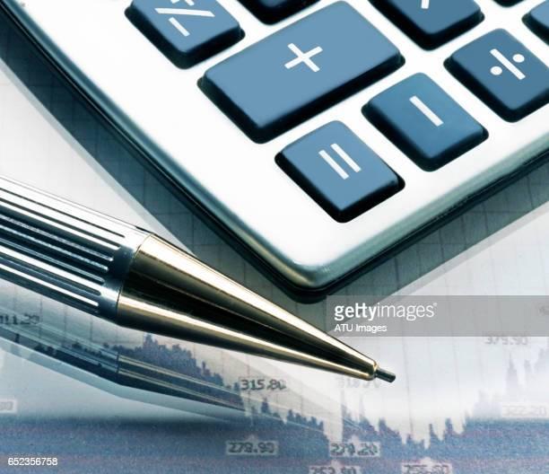 calculator chart - controle - fotografias e filmes do acervo