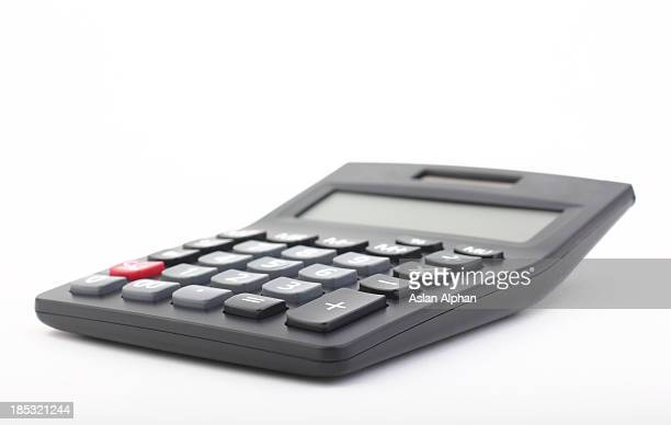 calculator on a white background - calculator stock photos and pictures