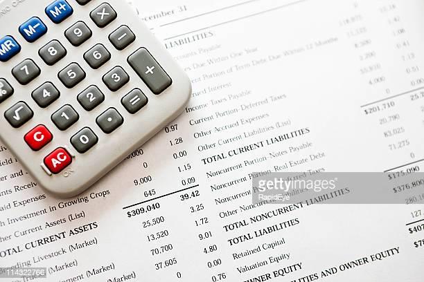 Calculadora no balanço, empresas de contabilidade