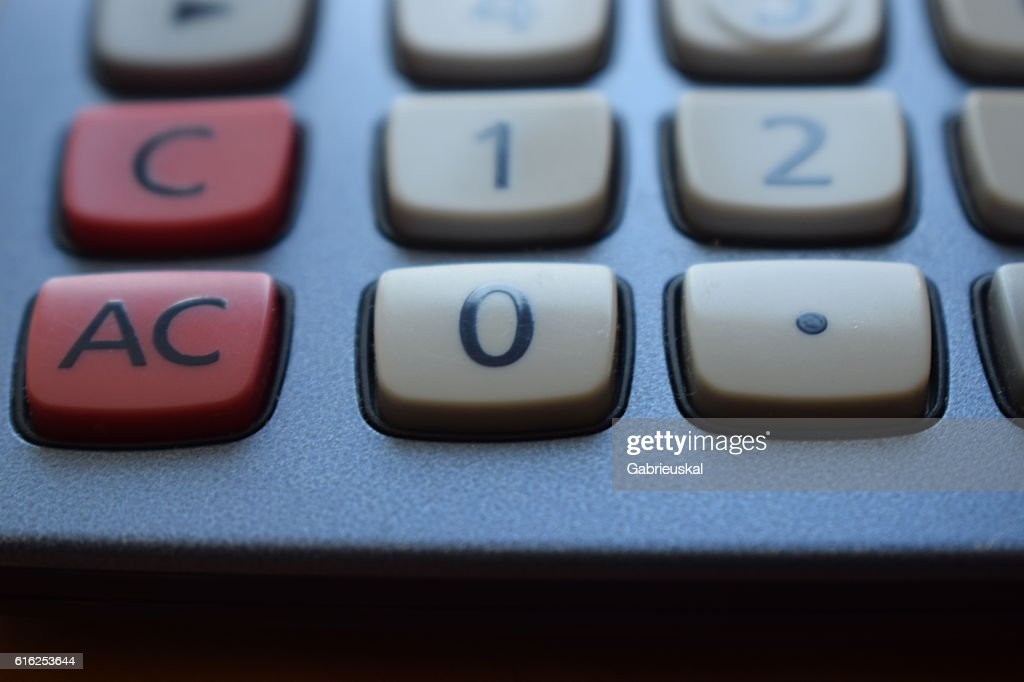 Calculadora. : Foto de stock