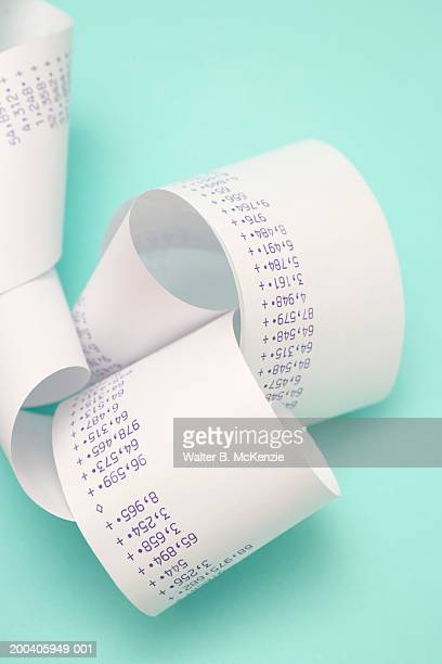 Calculator tape printout