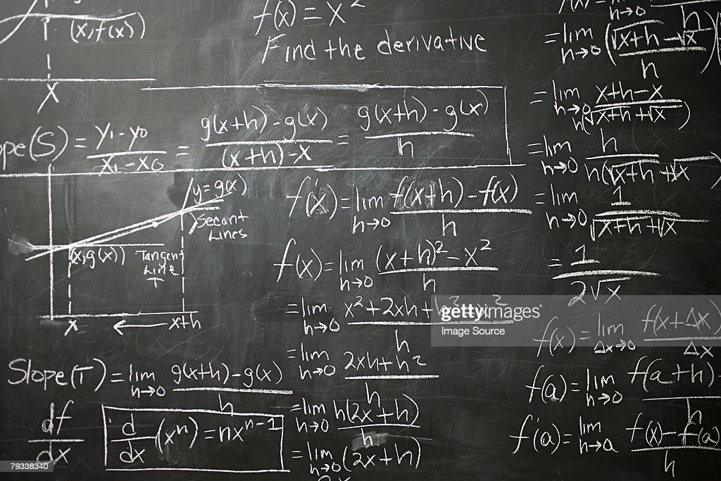 Calculus on blackboard : Stock Photo