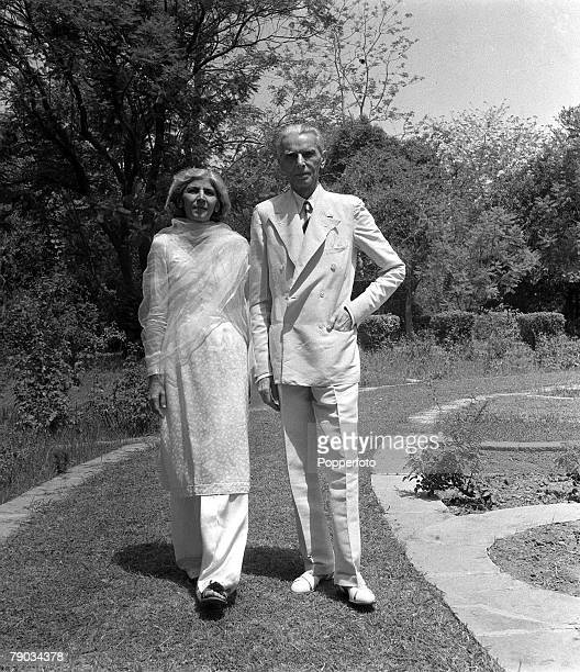 Calcutta India Asia Indian Moslem leader Mr MA Jinnah is pictured with his sister Fatima in New Delhi