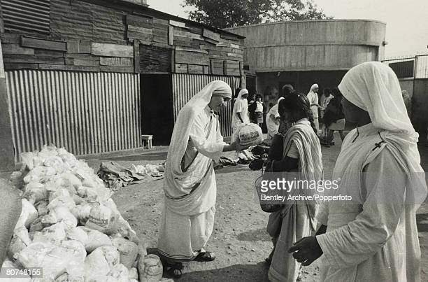 Calcutta India December 1971 Mother Theresa who runs the Sisters of Charity mission in the city