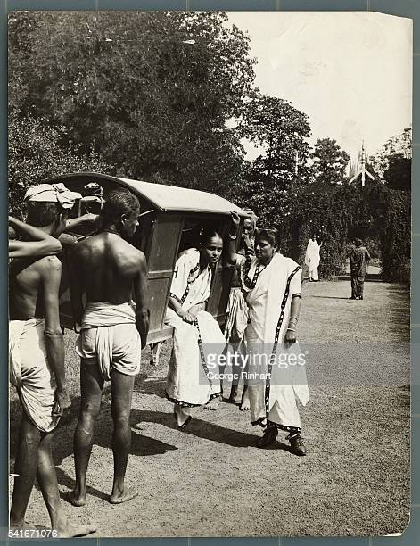 Conveyance in Calcutta India with a palanquin Undated photograph