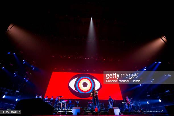 Calcutta performs on stage at Palalottomatica on February 5 2019 in Rome Italy