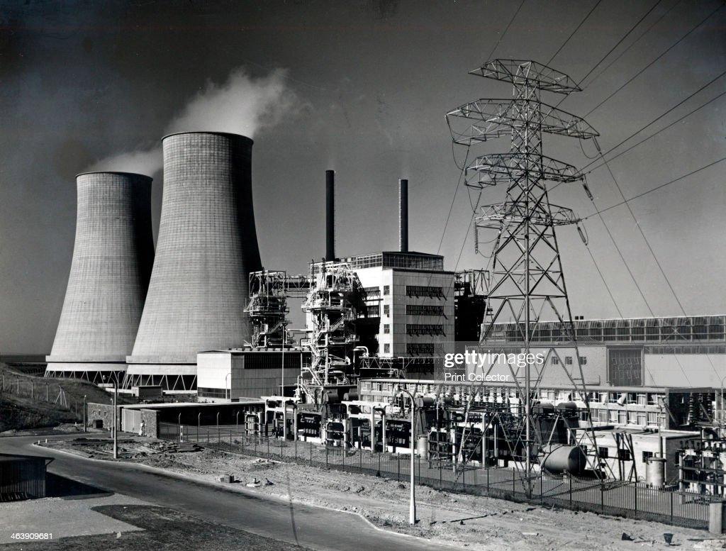Calder Hall nuclear power station, Cumbria. Artist: UKAEA : News Photo