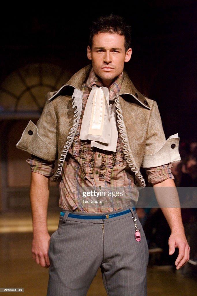 JP Calderon of Janice Dickinson Modeling Agency displays the