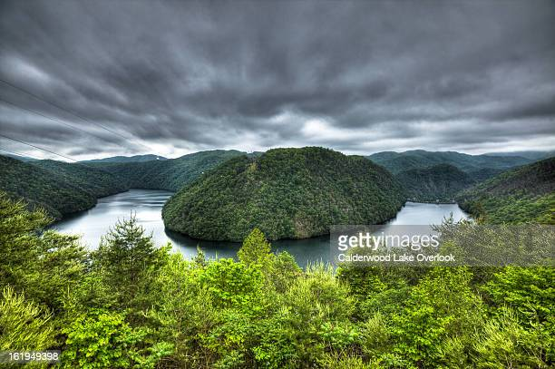 calderwood lake from the tail of the dragon! - tennessee stock photos and pictures