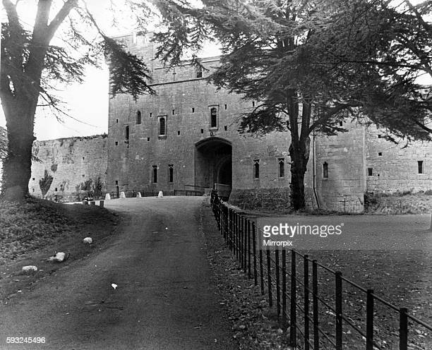 Caldicot Castle Monmouth southeast Wales October 1973 Pictured entrance to the 14th century castle between Newport and Chepstow