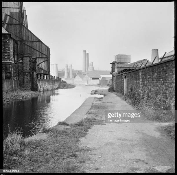 Caldon Canal Joiner's Square Hanley StokeonTrent Staffordshire 19651968 A view looking north along the Caldon Canal from a point opposite the...