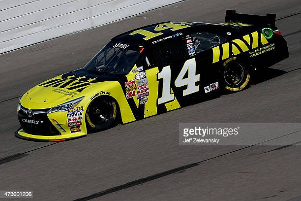 Cale Conley driver of the IAVA Toyota practices for the NASCAR XFinity Series 3M 250 at Iowa Speedway on May 16 2015 in Newton Iowa