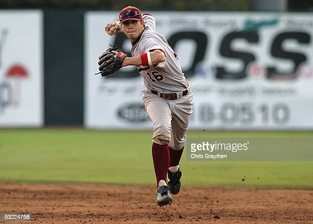Cale Iorg of the University of Alabama Crimson Tide throws the ball against the University of Louisiana Lafayette Ragin Cajuns during the NCAA New...