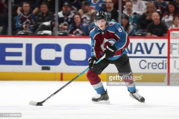 Cale Makar of the Colorado Avalanche skates against the San Jose Sharks in Game Six of the Western Conference Second Round during the 2019 NHL...