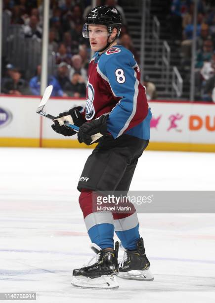 Cale Makar of the Colorado Avalanche skates against the San Jose Sharks in Game Four of the Western Conference Second Round during the 2019 NHL...