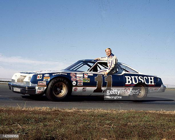 Cale Yarborough with Junior Johnson's Busch Beer Oldsmobile the team used on superspeedways during the 1979 and 1980 NASCAR Cup seasons
