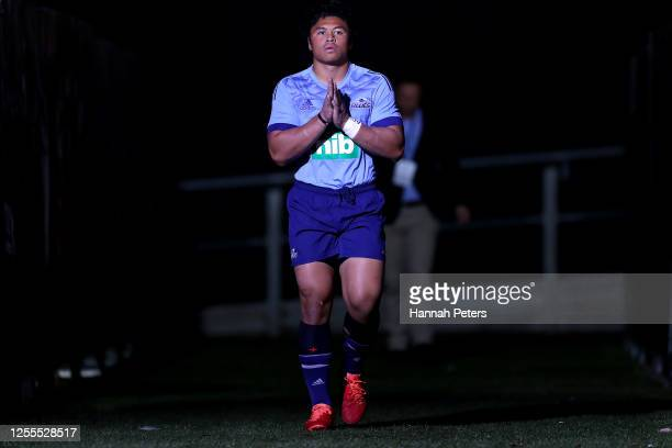 Caleb Clarke of the Blues before the round 5 Super Rugby Aotearoa match between the Crusaders and the Blues at Orangetheory Stadium on July 11 2020...