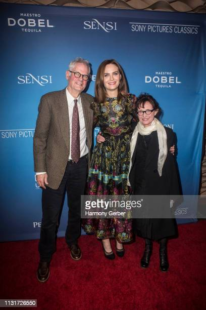 Caleb Deschanel Emily Deschanel and Mary Jo Deschanel attend the Sony Pictures Classics' Annual PreAcademy Awards Dinner Party at STK Los Angeles on...