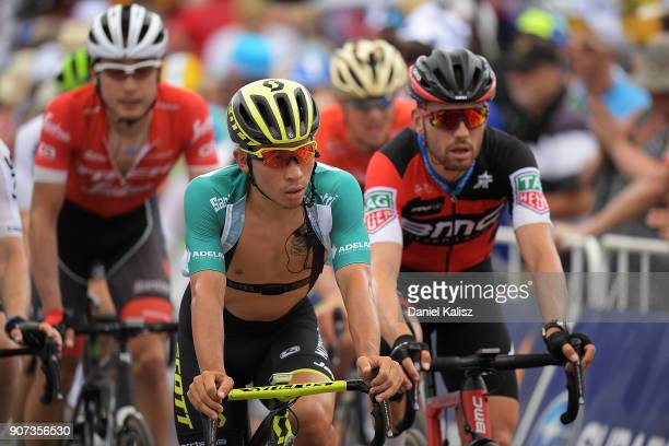 Caleb Ewan of Australia and MitcheltonScott competes during stage five of the 2018 Tour Down Under on January 20 2018 in Adelaide Australia
