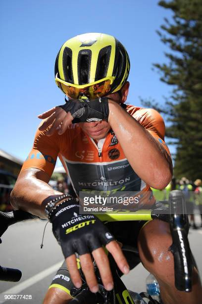 Caleb Ewan of Australia and MitcheltonScott looks on dejected after stage three of the 2018 Tour Down Under on January 18 2018 in Adelaide Australia