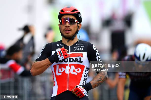 Caleb Ewan of Australia and Team Lotto Soudal celebrates at arrival during the 104th Giro d'Italia 2021, Stage 7 a 181km stage from Notaresco to...