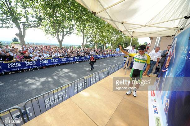 Caleb Ewan of Australia of Team OricaGreenEDGE during Stage Two of the Tour de l'Avenir on August 25 2014 in Brioude France