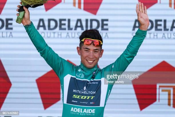 Caleb Ewan of MitcheltonSCOTT was the winner of Santos Ochre Leader's Jersey #seesouthaustralia Young Rider's Jersey and southaustraliacom Sprint...