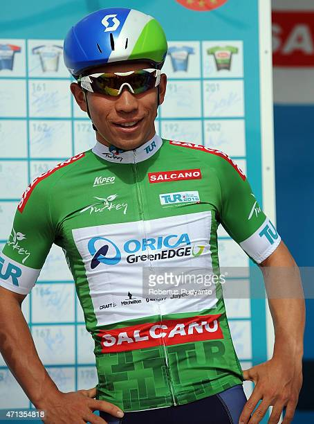 Caleb Ewan of Orica GreenEdge poses on the podium during team presentation Stage 2 of the 51st Presidential Cycling Tour of Turkey 2015 Alanya...