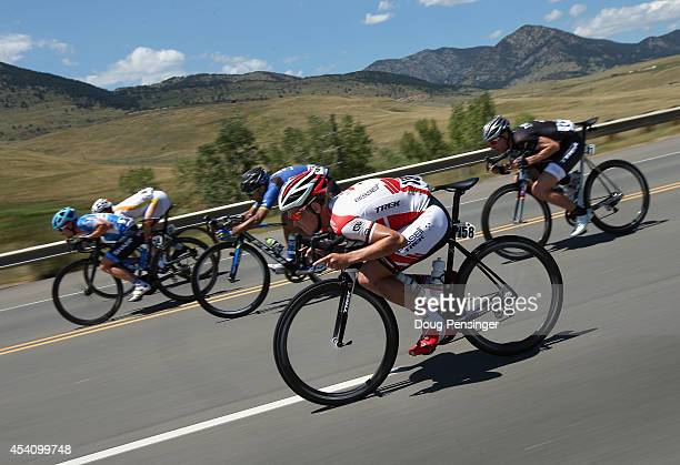 Caleb Fairly of the United States riding for Garmin Sharp, Javier Megias Leal of Spain riding for Team Novo Nordisk, Tiago Machado of Portugal riding...