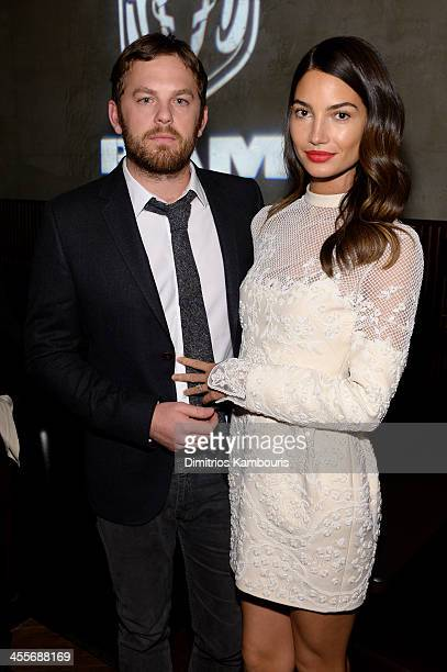 Caleb Followill and Lily Aldridge attend the after party for AUGUST OSAGE COUNTY presented by The Weinstein Company with Ram Trucks on December 12...
