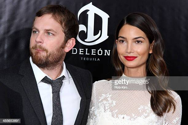 Caleb Followill and Lily Aldridge attend the premiere of AUGUST:OSAGE COUNTY presented by The Weinstein Company with DeLeon Tequila on December 12,...