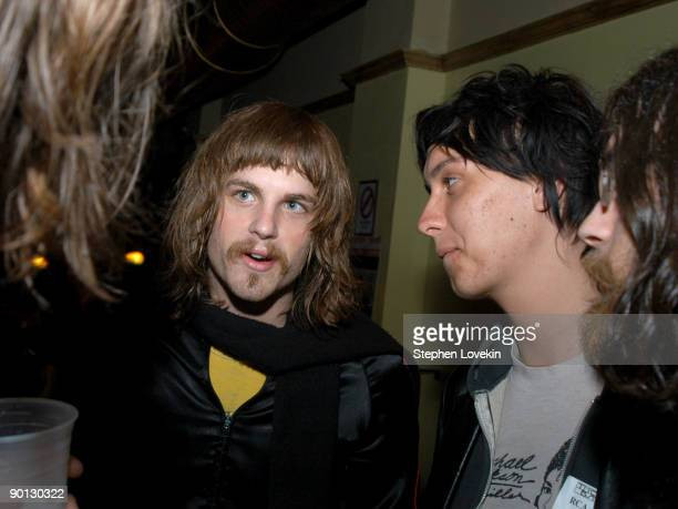 Caleb Followill of Kings of Leon and Julian Casablancas of The Strokes